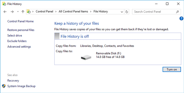 File History in Windows
