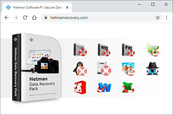 Click to view Hetman Data Recovery Pack 2.6 screenshot