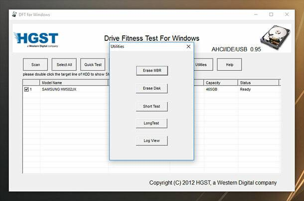 Windows Drive Fitness Test (WinDFT)