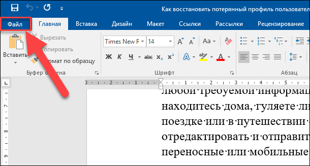 Word. Файл