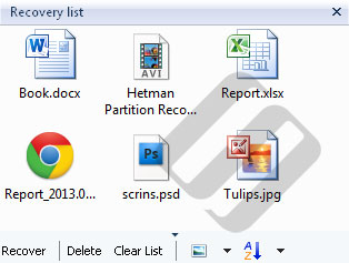 Hetman FAT Recovery: Files and Folders List