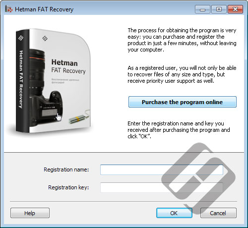Hetman FAT Recovery: Registration Form