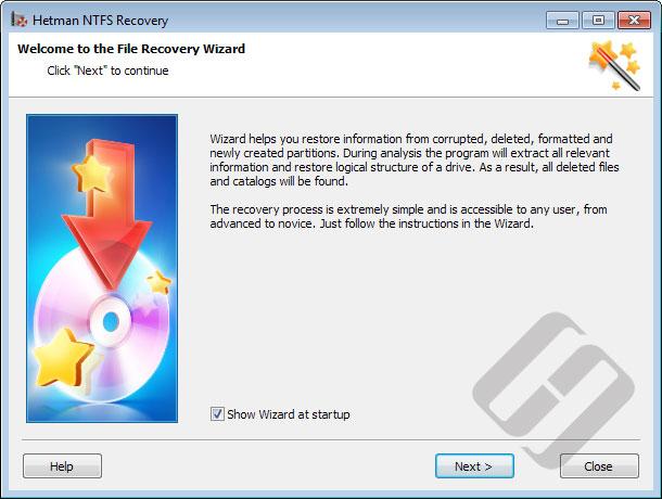 Hetman NTFS Recovery: Wizard