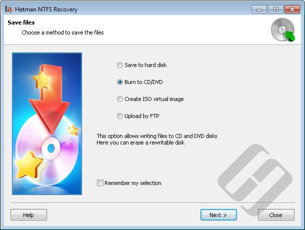 Hetman NTFS Recovery: Files Saving