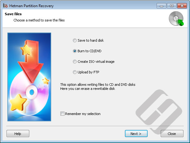 Hetman Partition Recovery: Saving Files