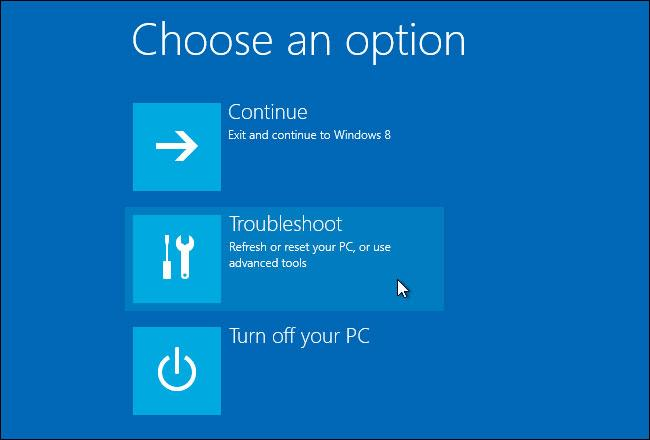 Diagnóstico / PC Restore en Windows 10