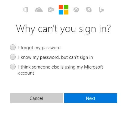 Why can not sign in Windows 10