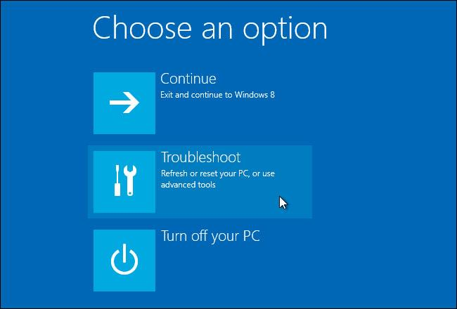 win 10 reset drive locked