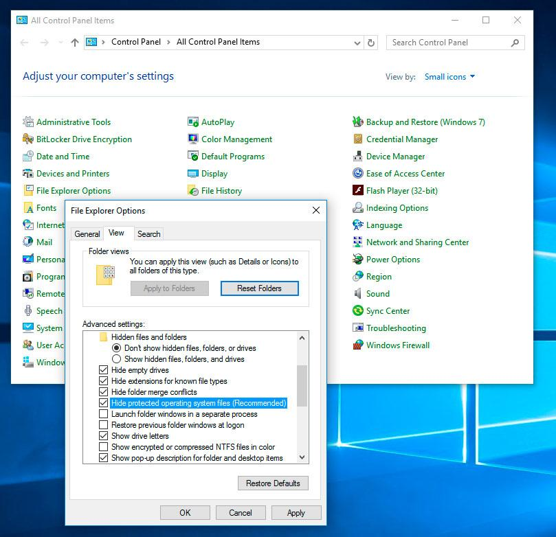 File Explorer Options Windows 10
